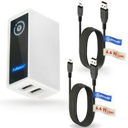 T POWER (5v) ( 2 x 6 Feet Cables ) Dual USB Ports for Fugoo ,Anker A3143, Blitzu Cyborg ,Beats Pill, Omaker M4, JBL, Bose, iHome, UE BOOM, Jawbone ...etc Wireless Portable Speakers Power Supply Cord