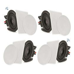 PYLE PDICBT286 - 8?? Bluetooth Ceiling / Wall Speaker Kit, Flush Mount 2-Way Home Speakers, 250 Watt (4 Speakers)