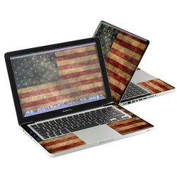 """Mightyskins Protective Skin Decal Cover for Apple MacBook Pro 13"""" with 13.3 inch screen wrap sticker skins Vintage Flag"""