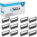 SuppliesMAX Compatible Replacement for M146/147/820/825/U420/675 Purple P.O.S. Printer Ribbons (12/PK) (C43S015371P_12PK)