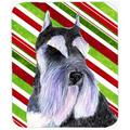 Schnauzer Candy Cane Holiday Christmas Mouse Pad, Hot Pad Or Trivet