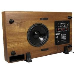 """8"""" Slim Home Subwoofer with Mahogany Finish"""