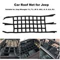 JuLam Heavy Duty Sunshade Soft Roof Net Exterior Network Storage Top Cover Car Hammock Cargo Rest Bed for Jeep