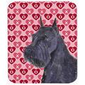 Carolines Treasures SS4523MP Schnauzer Hearts Love And Valentines Day Portrait Mouse Pad, Hot Pad Or Trivet