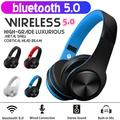 bluetooth Headphones Over Ear Foldable Wireless Rechargeable Headset Noise Cancelling Hifi Stereo Earbuds Adjustable Sport Headsets W/Mic FM AUX TF for Phone TV Computer MP3 Player