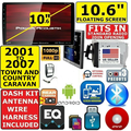 01-07 CARAVAN TOWN & COUNTRY BT TOUCHSCREEN DVD USB Car Radio Stereo INCLUDES VEHICLE SPECIFIC INSTALLATION HARDWARE INCLUDING DASH KIT, WIRE HARNESS, AND ANTENNA ADAPTER WHEN REQIRED.