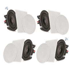 PYLE PDICBT256 - 5.25'' Bluetooth Ceiling / Wall Speaker Kit, (4) Flush Mount 2-Way Home Speakers, 150 Watt (4 Speakers)