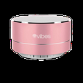 Vibes TAB - Metallic Portable Bluetooth Mini Wireless Speaker - IPX4 rated Water Resistant - HD voice ready - Light weight - Suspension Lighting Effect (Rose)