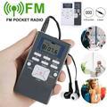 FM Personal Radio with Stereo Headphones, Great Reception and Long Battery Life, Mini Pocket Walkman Radio (Grey/White)