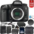 Canon EOS 7D Mark II Digital SLR Camera 9128B002 (Body Only) Intl Model - Bundle with 32GB Memory Card + 1 Year Seller Warranty + Spare Battery + More