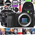 Sony a6600 Mirrorless Camera 4K APS-C Camera Body and E 10-18mm F4 OSS Wide Angle Zoom Lens ILCE-6600B + SEL1018 Bundle with Deco Gear Travel Backpack Case + Photo Video Software Kit + Accessories
