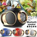 X6 Wireless Bluetooth Speaker, Bluetooth 5.0 Subwoofer Dual Sound Speaker Wireless Stereo Super Bass Loudspeaker USB/TF/FM Radio-White