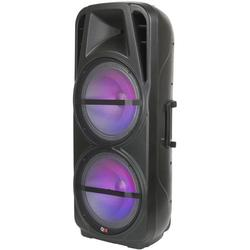 """QFX PBX-621501 Dual 15"""" Rechargeable Portable PARTY Bluetooth Speakers"""