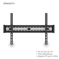TV Wall Mounts for Most 32-65 Inch Flat TV for Home, 2.7'' TV to Wall, Upper & Lower 0-15° Wall Mount TV Stand Monitor for Full Motion TV Mount with Spirit Level for Meeting Room, Classroom, A172