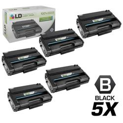 LD Remanufactured Replacements for Ricoh 406989 Set of 5 High Yield Black Laser Toner Cartridges for use in Ricoh Aficio SP 3500DN, 3500N, 3500SF, 3510DN, and 3510SF s