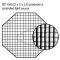 Fotodiox Pro 50 Degree Fabric Eggcrate Grid for Octagon Softboxes 48in (120cm)