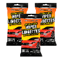 Wipes for Car Interior Cleaner Wipes for Dirt & Dust - Cleaning for Cars & Truck & Motorcycle, 30 Count - 3 PACK