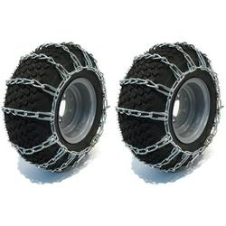 The ROP Shop Pair 2 Link TIRE Chains 18x8.5x8 for Simplicty Lawn Mower Garden Tractor Rider, PAIR 2 Link TIRE CHAINS 18x8.5x8 By Visit the The ROP Shop Store