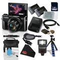 Canon PowerShot G7 X Mark II Digital Camera 1066C001 (International Model) + NB-13L Replacement Lithium Ion Battery + 32GB SDHC Class 10 Memory Card + Flexible Tripod with Gripping Rubber Legs Bundle