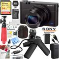Sony Cyber-shot DSC-RX100M3 III Mark 3 20.2 MP Compact Digital Camera with F1.8 Zeiss Vario-Sonnar T* 24-70mm Lens with Grip and Tripod Case Memory Card Spare Battery Bundle