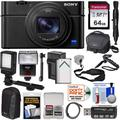 Sony Cyber-Shot DSC-RX100 VI 4K Wi-Fi Digital Camera with 64GB Card + Battery + Charger + Cases + Flash + LED + Grip + Tripod + Strap + Kit