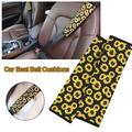 JuLam Soft Comfort Car Seat Belt Pads Cover, Universal Car Seat Belt Shoulder Pads Strap Covers for Adults, Car Seat Belt Cushions, Sunflower