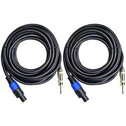 "Ignite Pro 2X Speakon to 1/4"" 25 Ft. True 12 Gauge Wire AWG DJ/Pro Audio Speaker Cable, Pair"