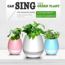 LED Light h Speakers Music Speakers Plant Pot Flowerpot Wireless Speakers Night Lamp USB