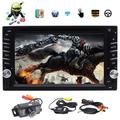 Lastest Android 6.0 OS 6.2 Inch Double DIN 2DIN Car DVD Player Car Stereo GPS Navigation Capacitive Touch Screen Bluetooth WIFI 4G FM/AM RDS Radio HD 1080P Video Media Player SWC UI