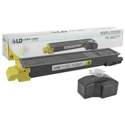 LD Compatible Replacement for Kyocera-Mita TK-897Y Yellow Laser Toner Cartridge for use in Kyocera-Mita TASKalfa 205c, 255, 255c, FS-C8520MFP, and FS-C8525MFP s