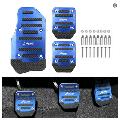 VONTER 3 Pcs Nonslip Pedal Foot Brake Accelerator Cover Set for Car Auto Vehicle MT Aluminium For Manual Transmission Car