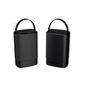 Sylvania SP096-Black Portable Outdoor Dual Bluetooth Speakers-Set of 2 Speakers - Manufacturer Refurbished