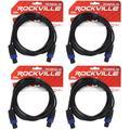 4 Rockville RCSS1610 10' 16 AWG 100% Copper Speakon to Speakon Pro Speaker Cable