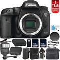 Canon EOS 7D Mark II Digital SLR Camera 9128B002 (Body Only) Intl Model - Bundle with 32GB Memory Card + 1 Year Seller Warranty + Spare Battery + Wireless Remote + More