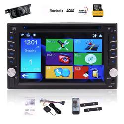Double Din in Dash Car Autoradio Headunit 6.2 inch Car DVD CD Player 5-points Capacitive Touch Screen GPS Navigation MP3 MP4 USB TF fm/am Radio Bluetooth SWC AUX Stereo system with Rear Camera