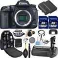 Canon EOS 7D Mark II DSLR Camera (Body Only). Kit Includes, 2Pcs 32GB Commander MemoryCard + Battery Grip + Extra Battery Deluxe Bundle