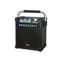 QFX PBX-508100 - Speaker - LED - for PA system - wireless - Bluetooth - 2-way - black
