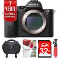 Sony ILCE-7RM2/B Alpha a7R II Mirrorless 42MP 4K Digital Camera Bundle with 1 Year Extended Warranty, 32GB Memory Card, Tripod, Paint Shop Pro 2018 and Camera Bag with Accessories (8 Items)