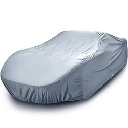 iCarCover Fits. [Ford Custom 4-Door] 1965 1966 1967 1968 For Automobiles Waterproof Full Exterior Hail Snow Dust Coupe Sedan Hatchback Indoor Outdoor Protection Heavy Duty Custom Vehicle Car Cover