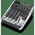 Behringer XENYX QX602MP3 Premium 6-Input 2-Bus Mixer w/ XENYX Mic Preamps, British EQs, MP3 Player & Multi-FX