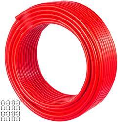 VEVOR PEX AL PEX Tubing 164ft Length, PEX Tube Red Color, Barrier PEX -10 to 90? Aluminum PEX Tubing Radiant Floor Heating tube 1.0MPa Pressure PEX Roll 12mm ID 16mm OD PEX Radiant Floor Plumb Pipe