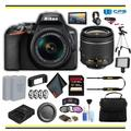 Nikon D3500 DSLR Camera with 18-55mm Lens Professional Bundle W/ Bag, Extra Battery, LED Light, Mic, Filters, Tripod, Monitor and More