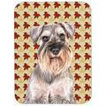 Fall Leaves Schnauzer Mouse Pad, Hot Pad or Trivet