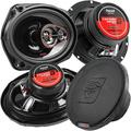 """""""Cerwin Vega 6.5"""""""" and 6x9 3-Way Coaxial Speakers 4 Ohm HED Series H7653 H7693 Combo Pack, (2) 6.5 3-way coaxial speakers By Visit the CerwinVega Store"""""""