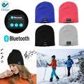 Deago Bluetooth Headphones Beanie Knit Hat Cap Wireless Running Music Hat with 2 Speakers & Mic Headset for Unisex Men Women / Deep Gray