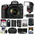 Nikon D750 Digital SLR Camera + 24-120mm f/4 VR Lens with 64GB Card + Battery + Charger + Case + GPS Adapter + Filters + Flash + Kit