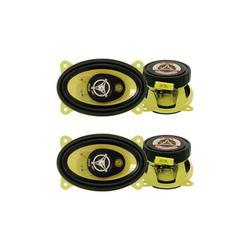 Pyle PLG46.3 4 x 6 Inch 3 Way 180 Watt Car Audio Stereo Coax Speakers (2 Pair)
