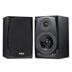 PYLE PBKSP22 - Desktop Bluetooth Bookshelf Speakers - HiFi Studio Monitor Computer Desk Stereo Speaker System (300 Watt MAX)