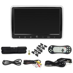 JD-1018D 10.1 Inches Car Headrest DVD Player Auto Monitor Touch Button Built-in Speakers Support Game Disk IR HD Input AV IN OUT Memory Card Slot