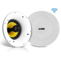 Pyle Audio 8 Inch Flush Ceiling/Wall Mount 2 Way WiFi Bluetooth Speakers, Pair